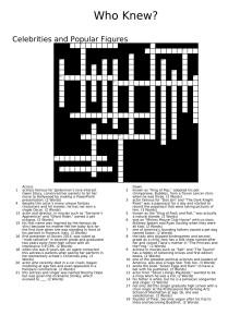 Crossword Credit: Sravya Kotha