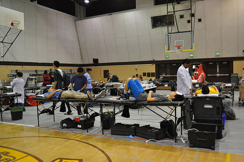 First Blood Drive for American Red Cross at West High School