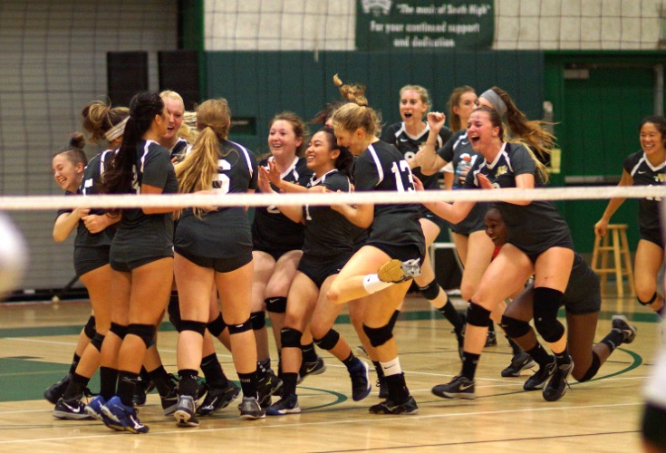 Girls' Volleyball Defeats South High Spartans