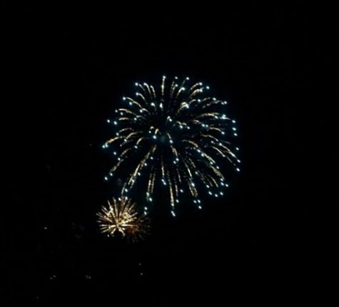 Student Amber Huang (9) watched a firework show with her family while reminiscing about the passing year. Picture Courtesy of Amber Huang.