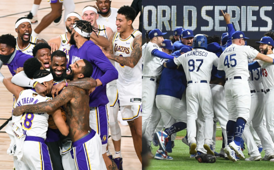 In+the+middle+of+a+pandemic%2C+LA%27s+two+major+wins+were+the+highlight+of+this+year.+Both+the+Lakers+and+the+Dodgers+played+through+an+uncertain+time%2C+pulling+through+with+championship+titles.+Photo+courtesy+of+Los+Angeles+Times.