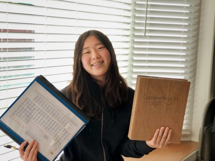"""Students including Kristen Sayano (9) are doing their best to prepare for finals this week. """"I feel prepared and a bit nervous,"""" Sayano admits. """"Last year for Bio [Honors] finals I felt good about them, so I have a good feeling about this semester's finals as well."""""""