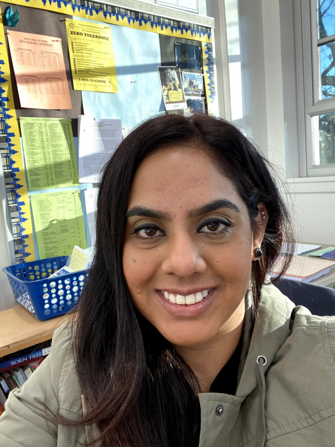 "Ms. Kahlon was one of West High's first teachers to provide on-campus education for students this school year. Despite the modified learning environment, she observed that it has ""helped a lot of kids. I see that students' grades have improved."""