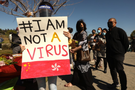 A rally was held on February 20th at Los Angeles State Historic Park to magnify the recent violence targeting the Asian community. Anti-Asian and Pacific Islander attacks all over the country have significantly increased as a result of the COVID-19 pandemic. Photo courtesy of Genaro Molina/Los Angeles Times.