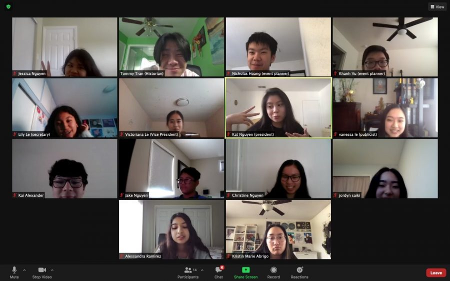 """Because of the pandemic, Vietnamese Association Club had to hold their meetings over Zoom. Even so, many of the members were able to gain memorable experiences, as well as the VSA board members. Victoriana Le (12) said that she """"enjoyed being able to meet other people through our events."""""""