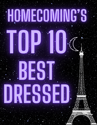 """This year's Homecoming theme was a night in Paris, prompting many students to go all out with their outfits. Lilly Reynolds (12), one nominee for the best dressed at Homecoming, mentioned that she """"enjoyed seeing people's different styles and fits."""""""
