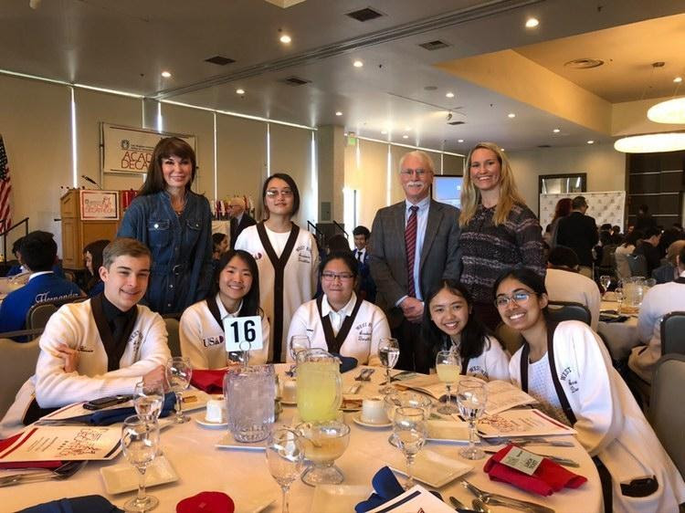 The Academic Decathlon team at the LA County competition in 2020, the last in-person competition. During the 2020 competition, the West's Acadec placed third out of a total of 39 teams. Photo Courtesy of Shreya Reddi (12).