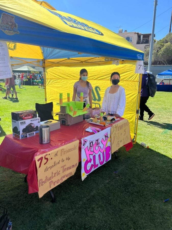The Manhattan Beach fair took place from October 2 and 3 where participants had to set up a games booth to collect money for the PTP. Members had the option of choosing which 2-hour shifts they were available for to run the booth. Photo Courtesy of Elizabeth Libertor (12).